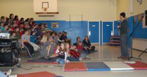 Jason Chin at Calais Elementary School